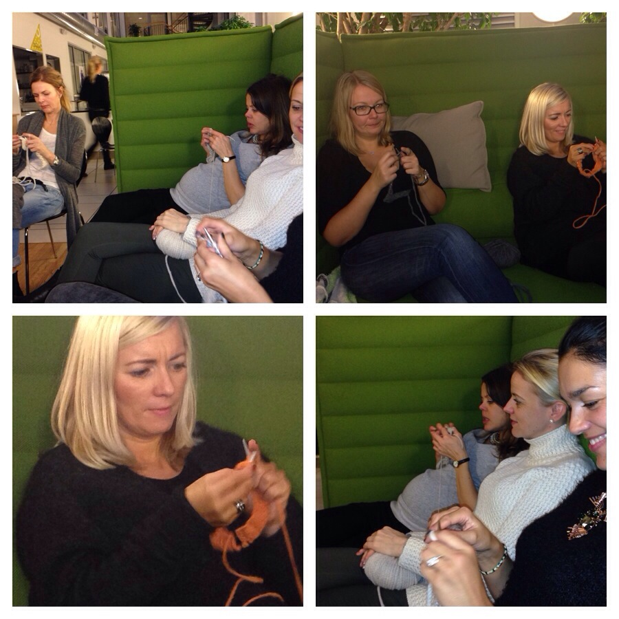 Social after work knitting